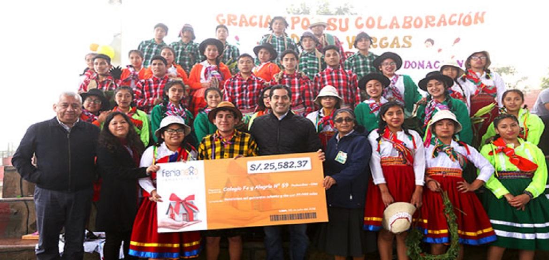 ASEI dona dinero al Colegio Fe y Alegría N.º 59 de Ventanilla