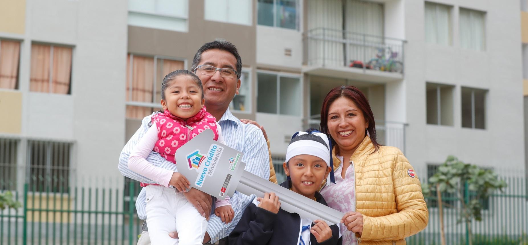 Más familias acceden a viviendas